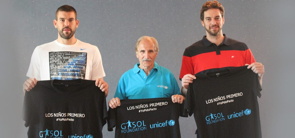Gasol Foundation and UNICEF Spanish Committee join efforts to raise awareness on childrens rights