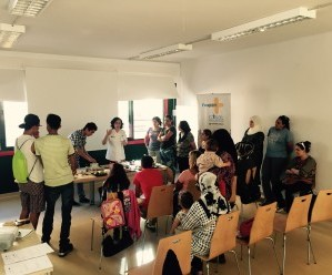 Families from Badalona participate in workshop on nutrition & healthy cooking