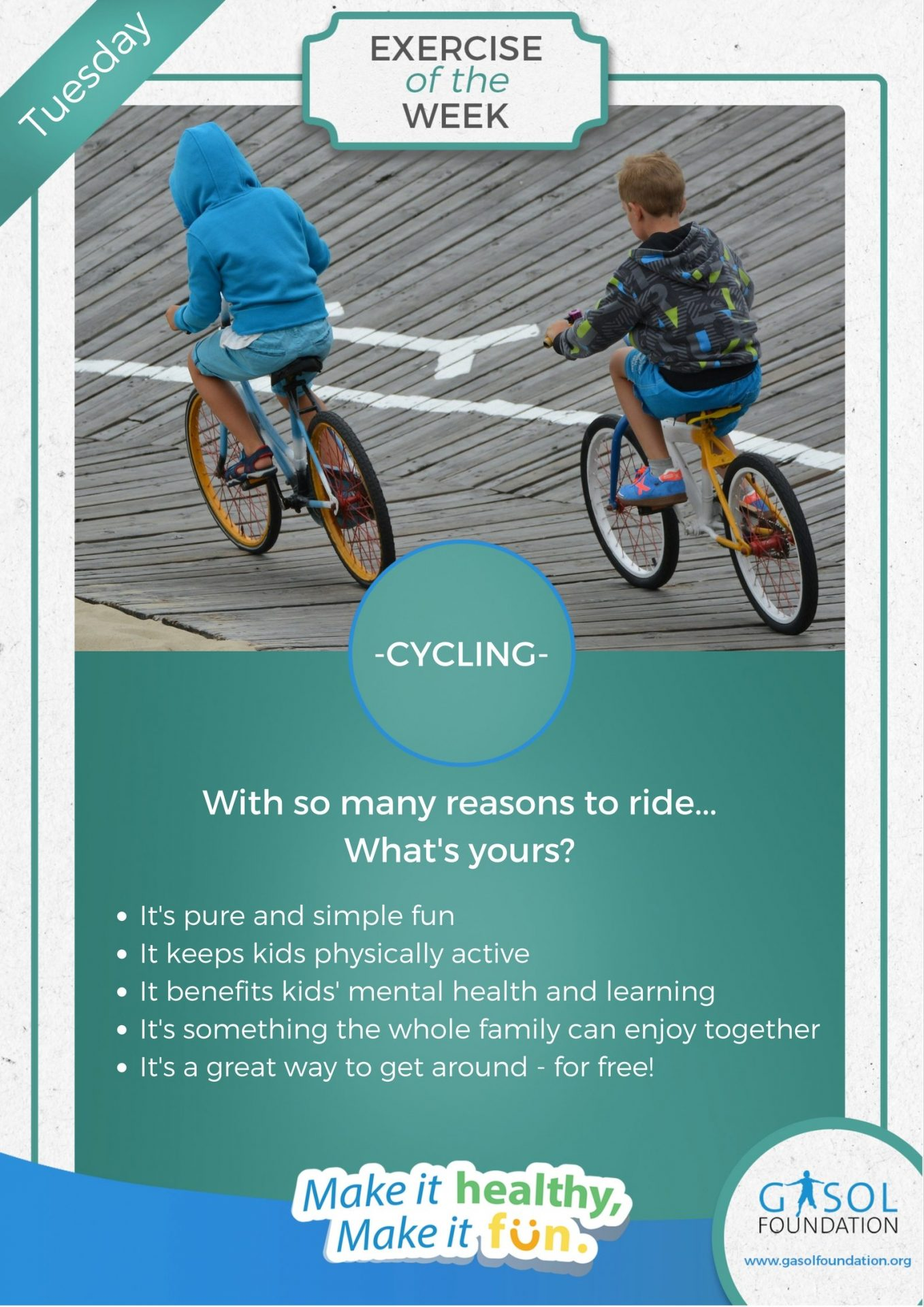 Bicycling is Healthy and Fun for Children - Gasol Foundation